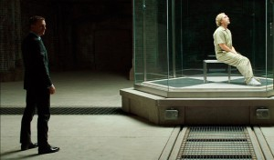 Daniel Crag and Jeremy Bentham in Skyfall