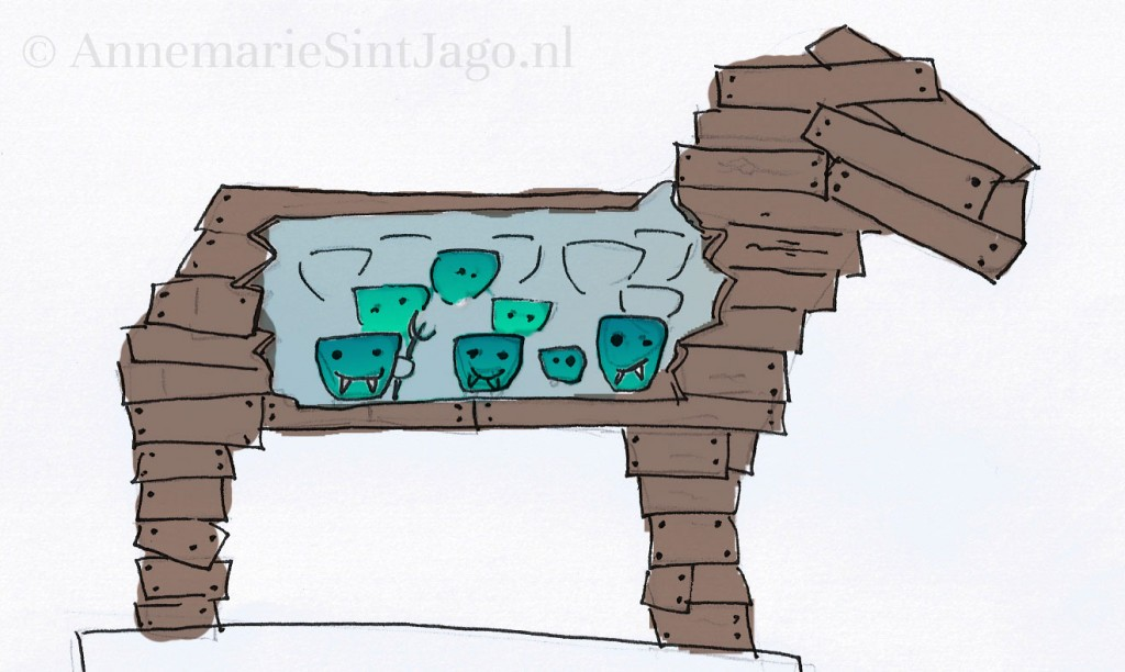 Een trojaans paard met een verborgen leger van nanodeeltjes