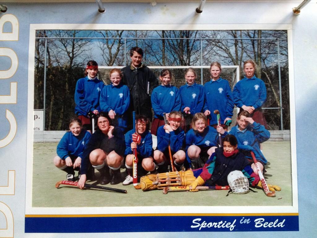 Mijn hockeyteam, ergens halverwege de jaren 90