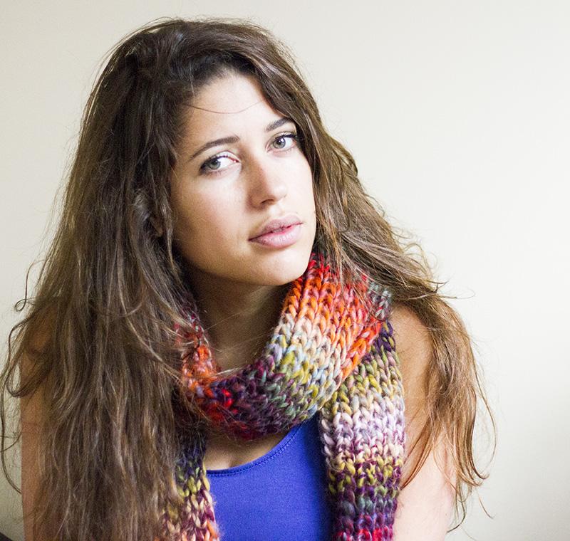 Kleurrijke sjaal van HEMA en heerlijk warm