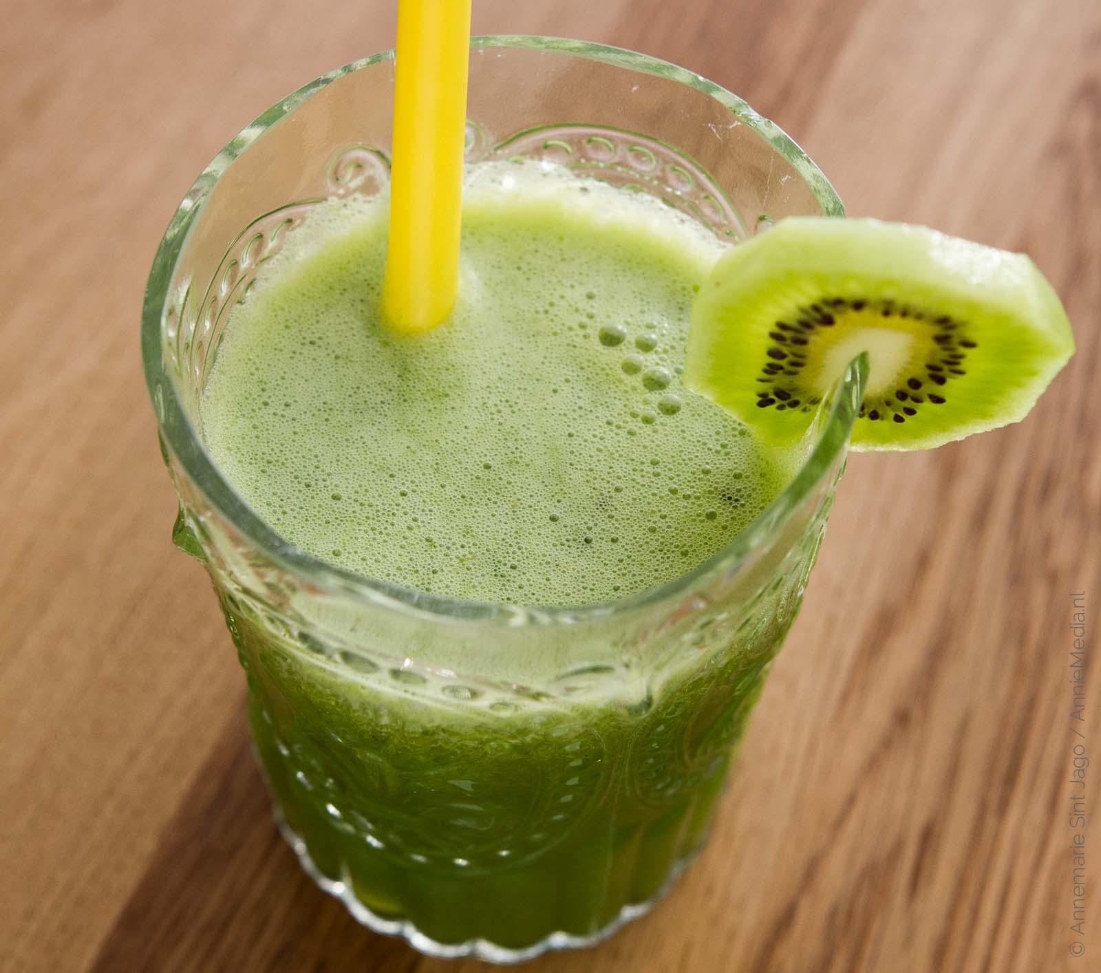 Slow Juicer Kiwi : Slowjuice-sapje Kiwi Appel Spinazie - AnnemarieSintJago.nl
